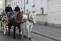 Poland, Krakow, Horse-drawn carriage, Old Town