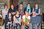 Nancy Coffey Milltown who celebrated her retirement from St Mary of the Angels Beaufort after 29 years of service in the Beaufort Bar on Thursday front row l-r: Helena O'Sullivan, Mary O'Leary Nancy Coffey, Joe Doona. Back row: May Clifford, Ann Cooper, Eileen O'Brien, Catherine O'Shea and Margaret Noonan ..