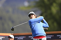 Nacho Elvira (ESP) tees off the 14th tee during Thursday's Round 1 of the 2017 Omega European Masters held at Golf Club Crans-Sur-Sierre, Crans Montana, Switzerland. 7th September 2017.<br /> Picture: Eoin Clarke | Golffile<br /> <br /> <br /> All photos usage must carry mandatory copyright credit (&copy; Golffile | Eoin Clarke)