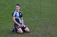 Luke O'Nien of Wycombe Wanderers reaction after a near miss during the Sky Bet League 2 match between Wycombe Wanderers and Mansfield Town at Adams Park, High Wycombe, England on 25 March 2016. Photo by Andy Rowland.