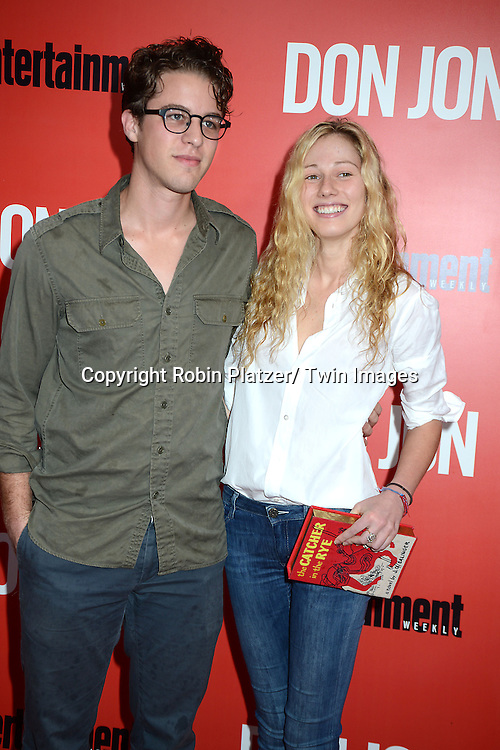 """Henrick Joost and date attends the """"Don Jon"""" New York Movie Premiere on September 12, 2013 at the SVA Theatre in New York City."""