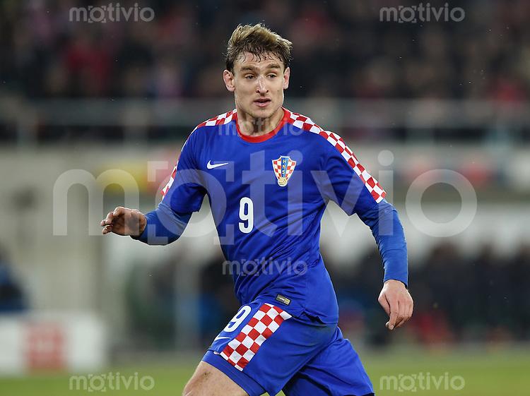 FUSSBALL INTERNATIONALES TESTSPIEL in Sankt Gallen Schweiz - Kroatien       05.03.2014 Nikica Jelavic (Kroatien)