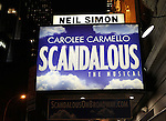 Theatre Marquee for the Broadway Opening Night Performance After Party for 'Scandalous The Musical' at the Neil Simon Theatre in New York City on 11/15/2012