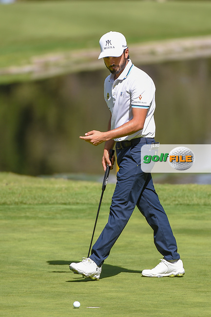 Abraham Ancer (MEX) watches his putt on 6 during round 1 of the World Golf Championships, Mexico, Club De Golf Chapultepec, Mexico City, Mexico. 2/21/2019.<br /> Picture: Golffile | Ken Murray<br /> <br /> <br /> All photo usage must carry mandatory copyright credit (© Golffile | Ken Murray)