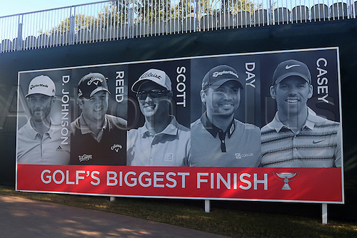 23.09.2016. Atlanta, Georgia, USA.  Player banner at the second round of the 2016 PGA Tour Championship at East Lake Golf Club in Atlanta, Georgia.
