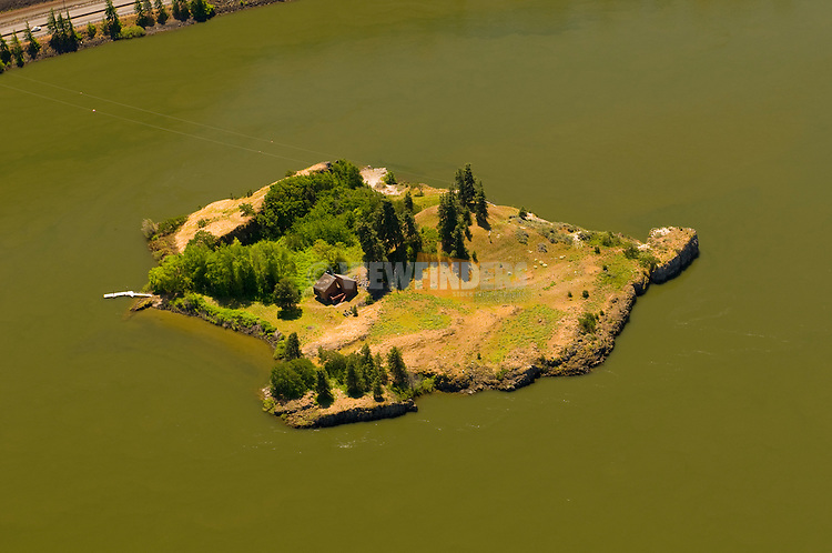 Private Island in the Columbia River Gorge, Oregon