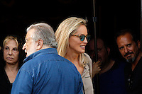 "L'attrice statunitense Sharon Stone col regista Pupi Avati, a sinistra, sul set del film ""Un ragazzo d'oro"", all'esterno della chiesa di Santa Maria dei Miracoli in piazza del Popolo, Roma, 18 luglio 2013.<br /> U.S. actress Sharon Stone and Italian director Pupi Avati, left, on the set of the movie ""Un ragazzo d'oro"", outside of the church of St. Mary of Miracles in downtown Rome, 18 July 2013.<br /> UPDATE IMAGES PRESS/Riccardo De Luca"