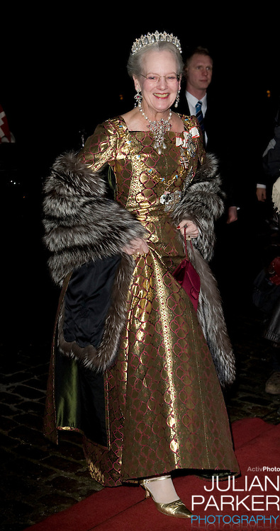 Queen Margrethe of Denmark attends the Traditional New Year Gala Dinner, at Amalienborg Palace in Copenhagen Denmark