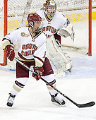 Allison Szlosek (BC - 8) - The Boston College Eagles defeated the visiting St. Lawrence University Saints 6-3 (EN) in their NCAA Quarterfinal match on Saturday, March 10, 2012, at Kelley Rink in Conte Forum in Chestnut Hill, Massachusetts.