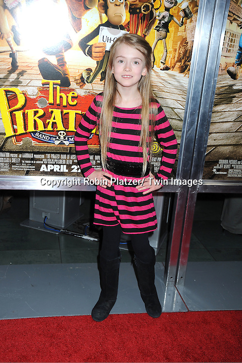 "actress Ashley Gerasimovich attends a special screening of "" The Pirates! Band of Misfits"" on April 22, 2012 at The AMC Empire Theatre in New York City. Hugh Grant is the star of the movie."