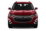 Car photography straight front view of a 2019 Chevrolet traverse 3LT 5 Door SUV