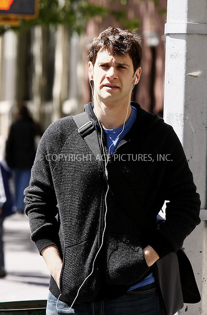 WWW.ACEPIXS.COM . . . . .  ....May 13 2008, New York City....Actor Justin Bartha was on the Central Park set of the new movie 'The Rebound' in Manhattan. ....Please byline: AJ Sokalner - ACEPIXS.COM..... *** ***..Ace Pictures, Inc:  ..te: (646) 769 0430..e-mail: info@acepixs.com..web: http://www.acepixs.com