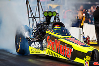 Aug 19, 2017; Brainerd, MN, USA; NHRA top fuel driver Troy Coughlin Jr during qualifying for the Lucas Oil Nationals at Brainerd International Raceway. Mandatory Credit: Mark J. Rebilas-USA TODAY Sports
