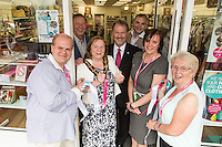 Pictured from left are PDSA Volunteer David Le Blanc, PDSA Regional Operations Manager Jeff Brown,  Mayor of Erewash Councillor Val Custance, PDSA Head of Retail Philip Klette , Assistant Manager Johnathan Winfield-Hunt, PDSA Shop Manager Moira Earley and Volunteer Helen Taylor