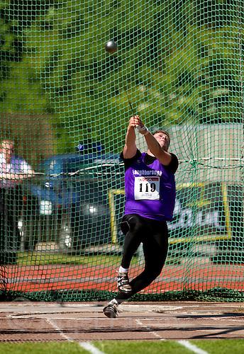 23 MAY 2010 - LOUGHBOROUGH, GBR - Matt Lambley - Mens Hammer - Loughborough International Athletics .(PHOTO (C) NIGEL FARROW)