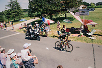 race leader Sylvain Chavanel (FRA/Direct Energie)<br /> <br /> Stage 2: Mouilleron-Saint-Germain > La Roche-sur-Yon (183km)<br /> <br /> Le Grand Départ 2018<br /> 105th Tour de France 2018<br /> ©kramon