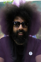 Reggie Watts at the 2012 Bonnaroo Music Festival in Manchester, Tennessee. June 9, 2012. Credit: Jen Maler / MediaPunch Inc. ***Double Rates Required*** NORTEPHOTO.COM<br />