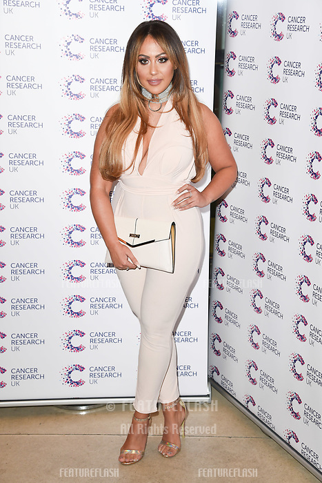 Sophie Kasaei arriving at James Ingham&rsquo;s Jog On to Cancer, in aid of Cancer Research UK at The Roof Gardens in Kensington, London.  <br /> 12 April  2017<br /> Picture: Steve Vas/Featureflash/SilverHub 0208 004 5359 sales@silverhubmedia.com