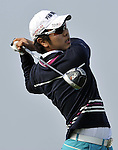 SUZHOU, CHINA - APRIL 16:  Bae Sang-moon of Korea tees off on the 18th hole during the Round Two of the Volvo China Open on April 16, 2010 in Suzhou, China. Photo by Victor Fraile / The Power of Sport Images