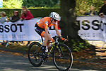 Annemiek Van Vleuten (NED) solos her way into Harrogate 2' ahead of the chasers during the Women Elite Road Race of the UCI World Championships 2019 running 149.4km from Bradford to Harrogate, England. 28th September 2019.<br /> Picture: Seamus Yore | Cyclefile<br /> <br /> All photos usage must carry mandatory copyright credit (© Cyclefile | Seamus Yore)