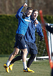 Dean Shiels and Kyle Hutton
