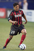 Amado Guevara had an assist and four shots on goal against the Burn. The Dallas Burn were defeated by the NY/NJ MetroStars 2-1 on 5/24/03 at Giant's Stadium, East Rutherford, NJ.