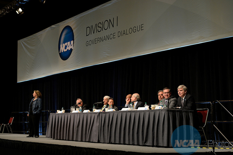 17 JAN 2014: The NCAA Division I Governance Dialogue takes place during the 2014 NCAA Convention in San Diego, CA.  Jamie Schwaberow/NCAA Photos (Pictured: Mark Emmert)