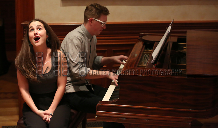 Kyle Jarrow and Lauren Worsham performs at the DGF Salon with Kyle Jarrow on November 1, 2018 at The Uterbetg Residence in New York City.