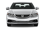 Car photography straight front view of a 2015 Honda Civic CNG 4 Door Sedan