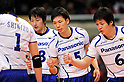 (L-R) Shinji Kawamura, Tatsuya Fukuzawa, Kenji Shirasawa (Panthers), MARCH 5, 2011 - Volleyball : 2010/11 Men's V.Premier League match between Toyoda Gosei Trefuerza 1-3 Panasonic Panthers at Tokyo Metropolitan Gymnasium in Tokyo, Japan. (Photo by AZUL/AFLO).