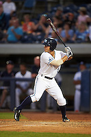 West Michigan Whitecaps second baseman Brett Pirtle (5) at bat during a game against the Burlington Bees on July 25, 2016 at Fifth Third Ballpark in Grand Rapids, Michigan.  West Michigan defeated Burlington 4-3.  (Mike Janes/Four Seam Images)