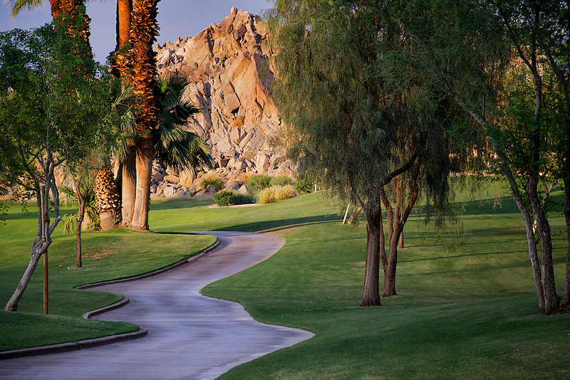 Path at Silver Rock Golf Resort. La Quinta, California