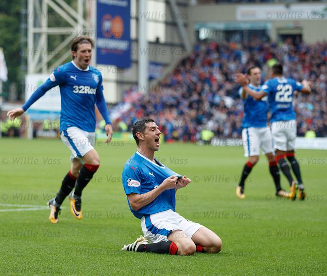 Graham Dorrans celebrates his first goal for Rangers