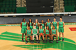 DENTON January 31: Mean Green women's basketball team photo at Super Pit - North Texas Coliseum on January 31, 2019 in Denton, Texas (Photo by Rick Yeatts )