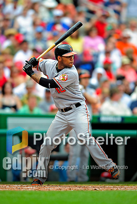 24 May 2009: Baltimore Orioles' shortstop Robert Andino in action during a game against the Washington Nationals at Nationals Park in Washington, DC. The Nationals rallied to defeat the Orioles 8-5 and salvage a win in their interleague series. Mandatory Credit: Ed Wolfstein Photo