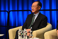"Washington, DC - April 15, 2016: World Bank President Jim Yong Kim participates in the ""Forced Displacement: A Global Development Challenge"" discussion at the World Bank Group MC building in the District of Columbia during the IMF/World Bank Spring Meetings, April 15, 2016.  (Photo by Don Baxter/Media Images International)"