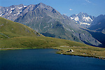 Mountains surrounding the Lac du Pontet, French Alps, France.
