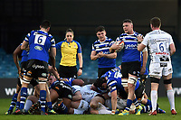 Jack Davies of Bath United looks on after his side win a turnover. Premiership Rugby Shield match, between Bath United and Gloucester United on April 8, 2019 at the Recreation Ground in Bath, England. Photo by: Patrick Khachfe / Onside Images