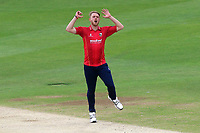 Frustration for Jamie Porter of Essex during Kent Spitfires vs Essex Eagles, Royal London One-Day Cup Cricket at the St Lawrence Ground on 17th May 2017