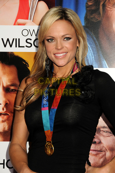 "JENNY FINCH.""How Do You Know"" Los Angeles Premiere held at the Regency Village Theater, Westwood, California, USA..December 13th, 2010.half length dress medal black corsage  .CAP/ADM/BP.©Byron Purvis/AdMedia/Capital Pictures."