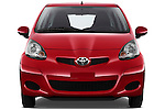 Straight front view of a 2010 Toyota Aygo + 5 Door Microcar