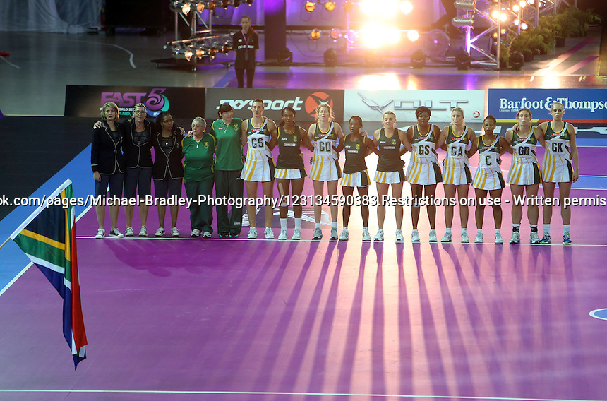 11.11.2012 Action from the Fast5 Netball World Series at Vector Arena in Auckland New Zealand. Mandatory Photo Credit ©Michael Bradley.