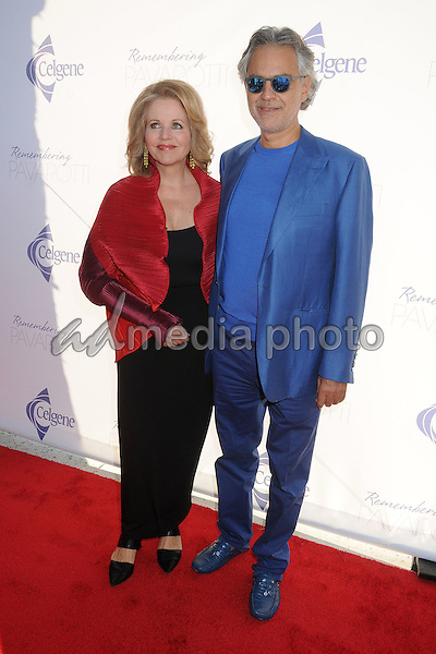 25 September 2015 - Los Angeles, California - Renee Fleming, Andrea Bocelli. Remembering Pavarotti Benefit Concert and Gala held at The Music Center. Photo Credit: Byron Purvis/AdMedia