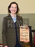 Karla Piner with her award from An Taisce for the renevation of Connell's house/barn. Photo:Colin Bell/pressphotos.ie