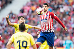 Alvaro Morata of Atletico de Madrid during La Liga match between Atletico de Madrid and Villareal CF at Wanda Metropolitano in Madrid Spain. February 24, 2018. (ALTERPHOTOS/Borja B.Hojas)