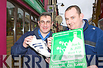 John O'Sullivan and Killian Murphy preparing for the Jack and Jill Run up the hill 10km walk which will be held in Kenmare on the 18th April
