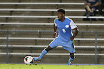 18 October 2013: North Carolina's Jordan McCrary. The University of North Carolina Tar Heels hosted the Syracuse University Orangemen at Fetzer Field in Chapel Hill, NC in a 2013 NCAA Division I Men's Soccer match. UNC won the game 1-0.