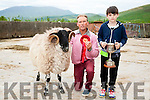 10-year-old Clement Crean with his dad Clement Crean Snr., with the 1st prize Yearling Ram won on Sunday at the West Kerry Agricultural Show.