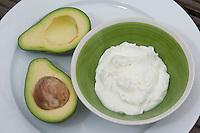 Avocado, Avokado und Quark, Persea americana, Persea gratissima