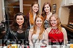 19th Birthday : Rebecca Wilmot, Listowel celebrating her birthday wt friends at Eabha Joan's, Restaurant, Listowel on Saturday night last. FRont: Olivia Quirke-McFarlane, Rebecca Wilmot & Charlotte O'Driscoll-Greaney. Back : Ciara Curti & Caoimhe Dowling.